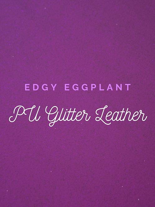 Edgy Eggplant Glitter Vinyl