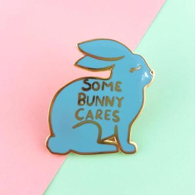 Some bunny cares lapel pin