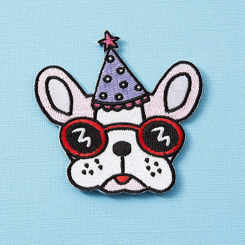 Party Pooch Iron On Patch