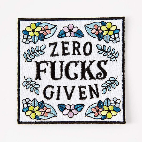 Zero F*cks Given Iron On Patch