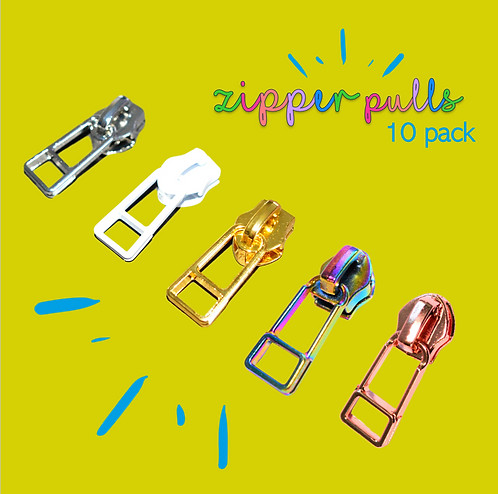 Zipper Pulls 10 Pack