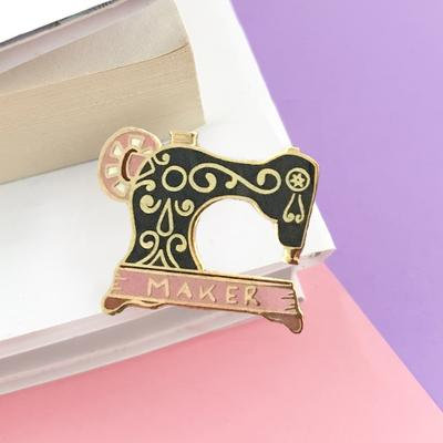 Maker sewing machine lapel pin