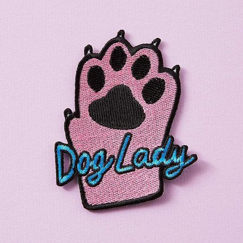 Dog Lady Iron On Patch