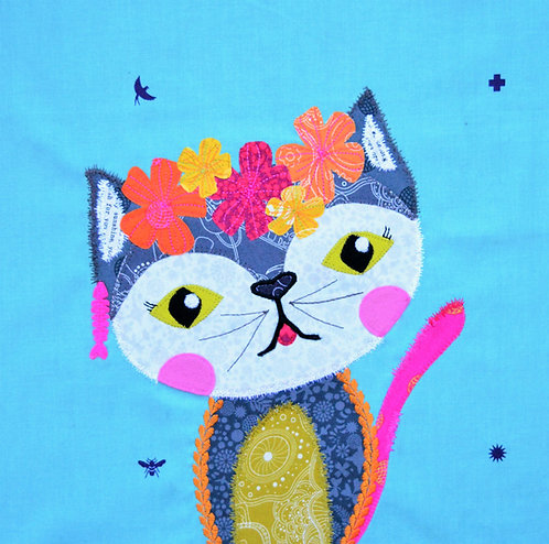 Pre-cut Kit: Furlicity the Feline Pink/Orange Colourway