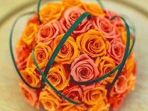 """DIY Arrangement - """"Sunset Orange"""" & """"Flamingo Orange"""" colours"""