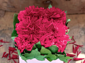"""DIY Arrangement - """"Hot Pink"""" colour with Ivy Leaves"""