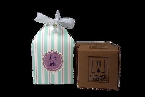 Geschenkbox gestreift, 2 Seifen
