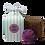 Thumbnail: Geschenkbox gestreift, 1 Badebombe, 1 Seife