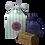 Thumbnail: Geschenkbox gestreift, 1 Lavendelsackerl, 1 Lavendel Öl