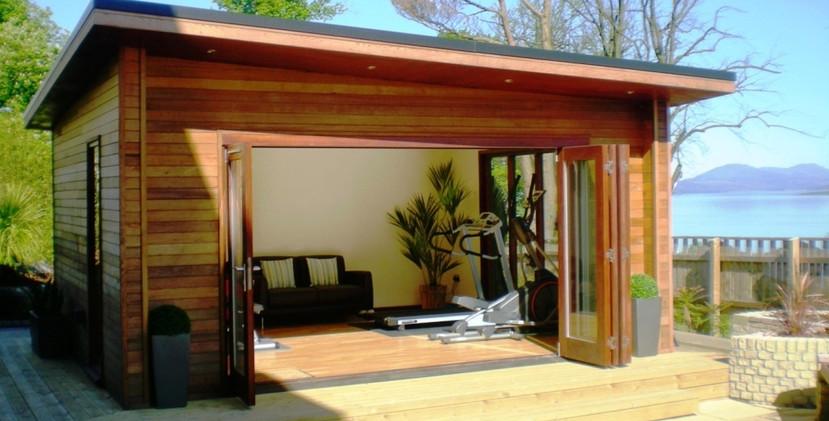 Garden-gym-modern studio