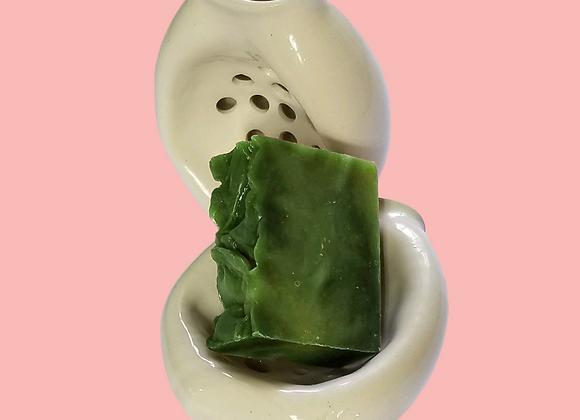 Ceramic Soap Dish & Soap