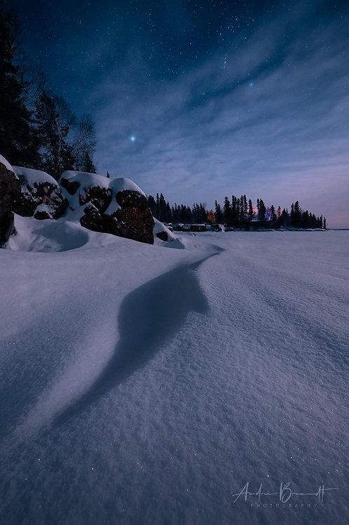 Dark snow night