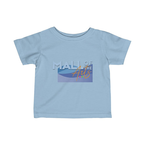 Infant Fine Jersey Tee text + lake