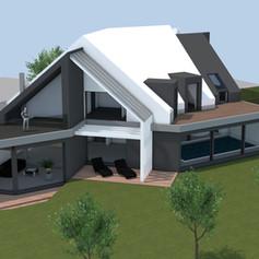 Entwurf - Einfamilienhaus mit Pool