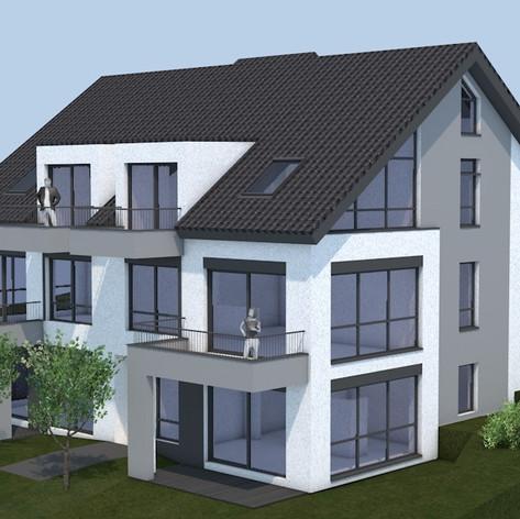 Neubau eines Mehrfamilienhauses in Rosbach
