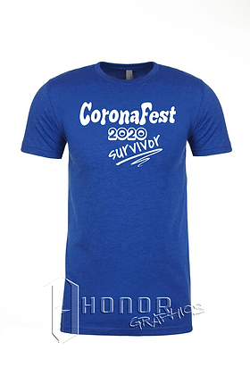 CoronaFest Men's Royal Blue Tee