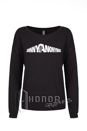 Johnny Anonymous Ladies Long Sleeve Scoop