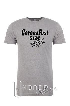 CoronaFest Men's Heather Grey Tee