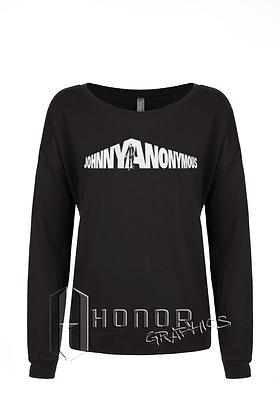 Johnny Anonymous Ladies Glitter Long Sleeve Scoop
