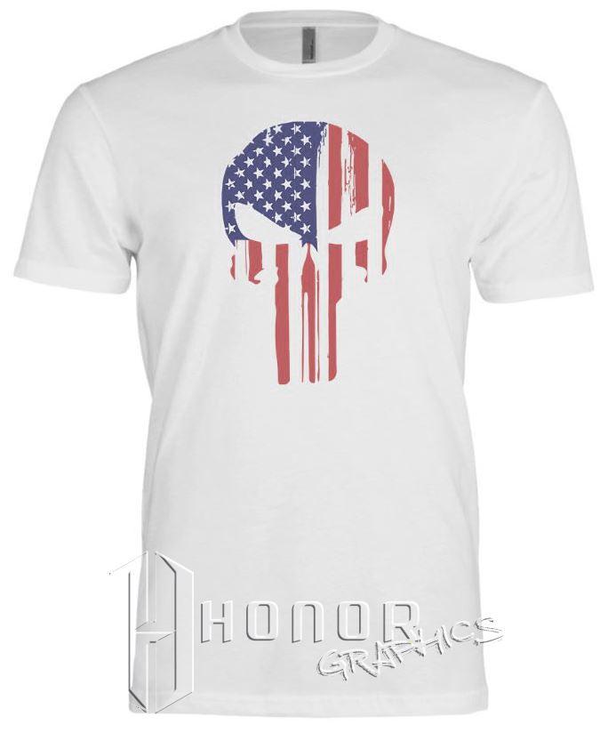 American Flag Skull Tee