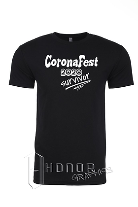 CoronaFest Men's Black Tee