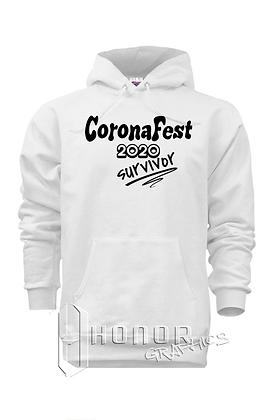CoronaFest White Hoodie