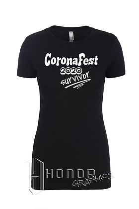 CoronaFest Ladies Black Tee