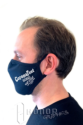 CoronaFest White Logo Face Mask