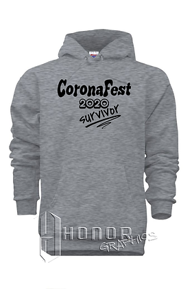 CoronaFest Heather Grey Hoodie