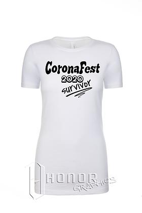 CoronaFest Ladies White Tee