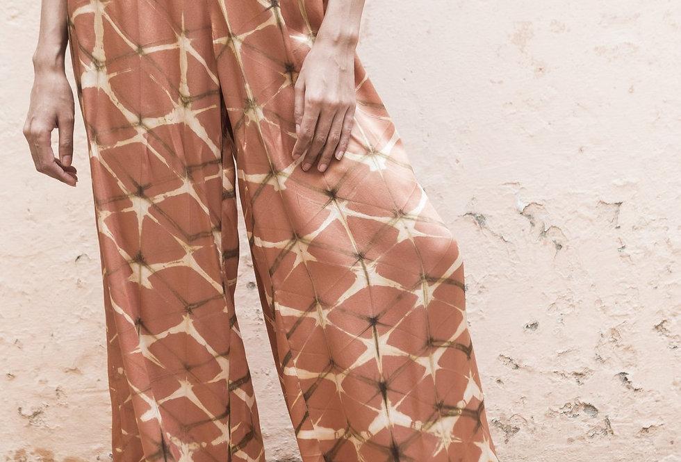 Itajime Silk Arielle Pants | terracotta