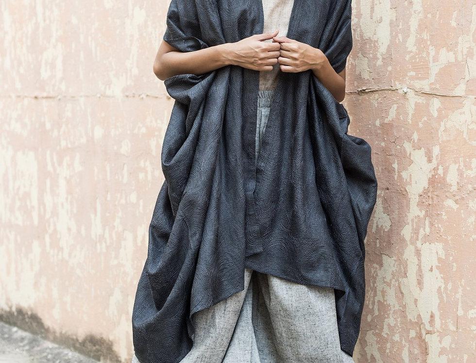 Kantha Tussar Dune Robe | spiral