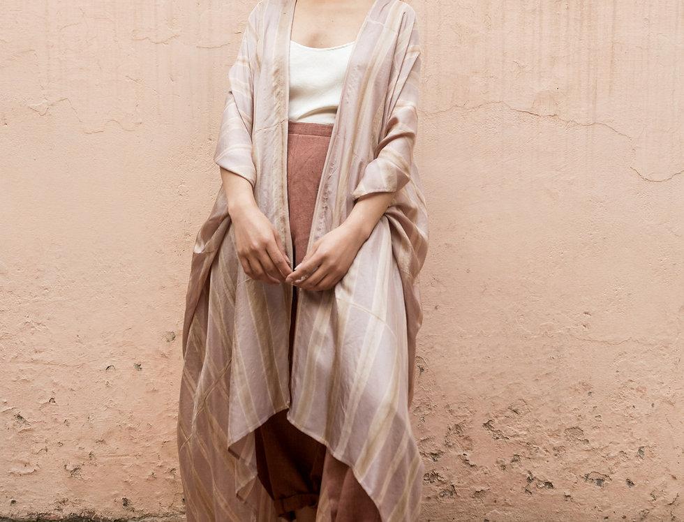 Itajime Silk Dune Robe | misty lilac