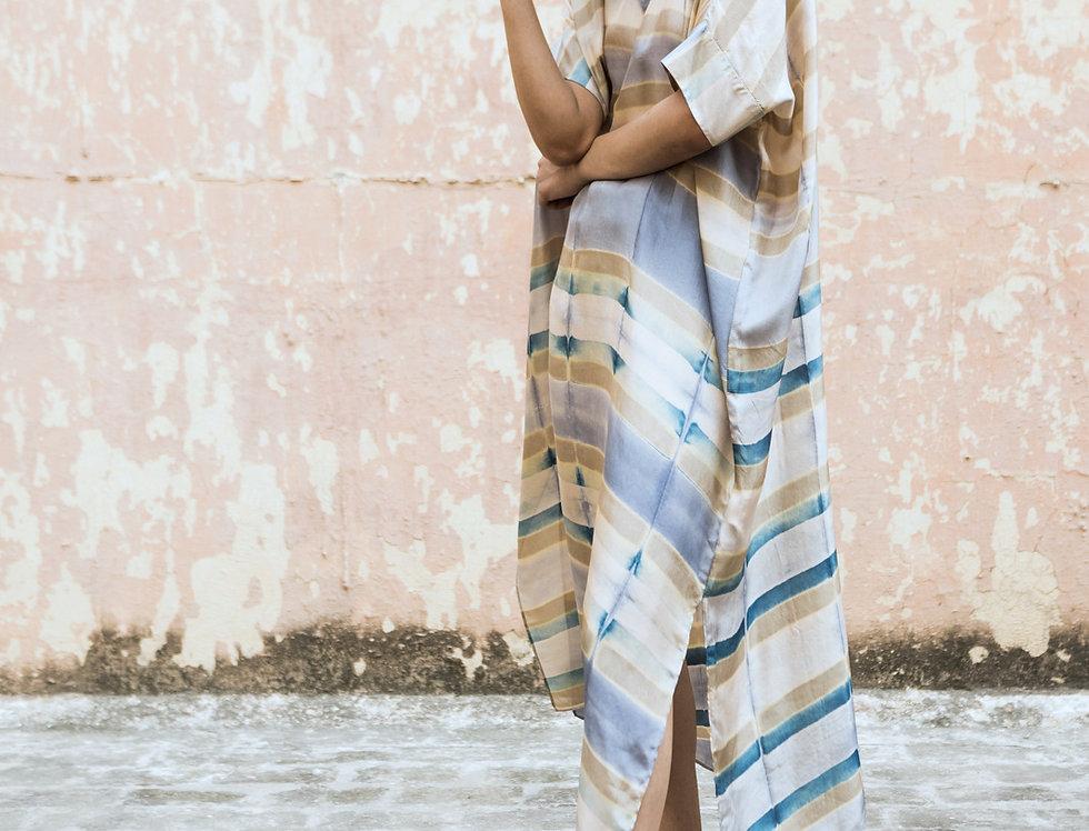 Itajime Silk Box Dress | urkoma