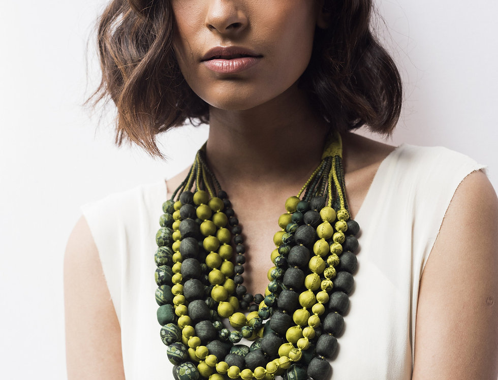 Iris Necklace | seaweed & lime