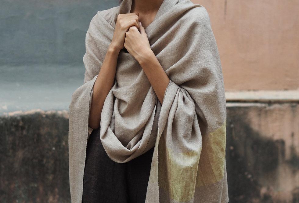 Pashmina Wrap | beige & gold