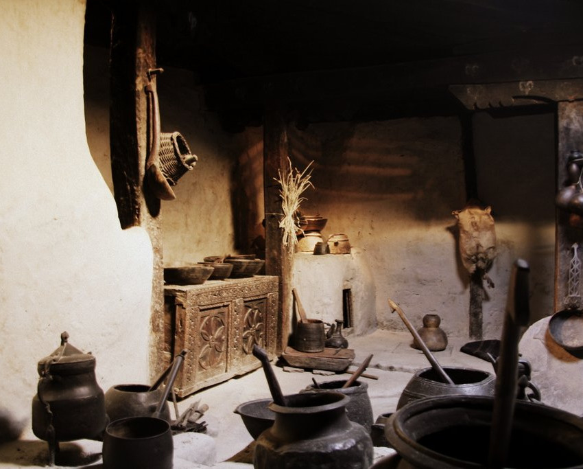 The kitchen of Baltit Fort.
