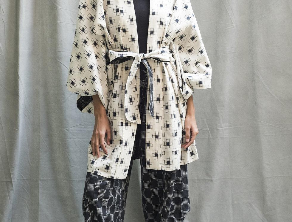 Kasuri Kimono | ivory