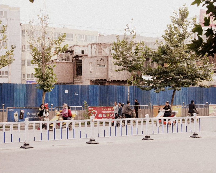 The old city has been fenced off; it gets harder and harder to reach what's left of it. Old Kashgar is coming down. See it before it's all gone!