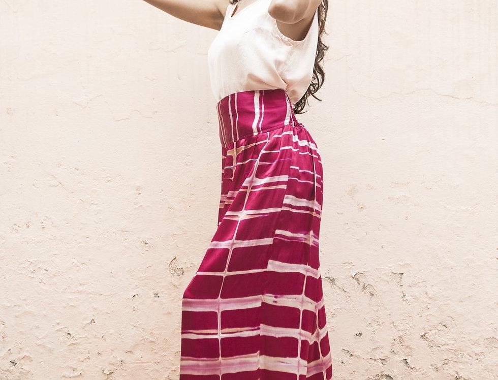 Itajime Silk Arielle Pants | rani pink