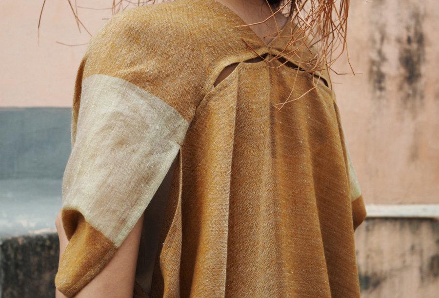 Pashmina Dune Robe   clay & gold