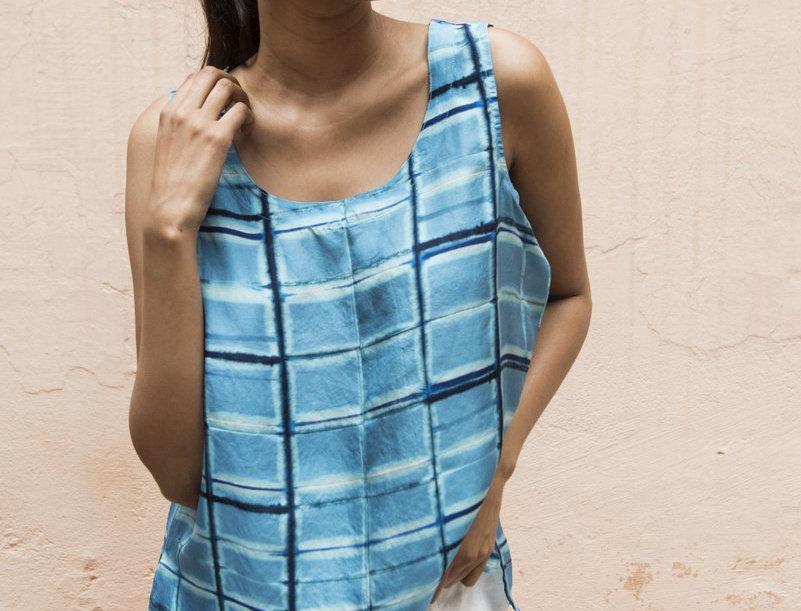 Itajime Silk Cami | tahiti
