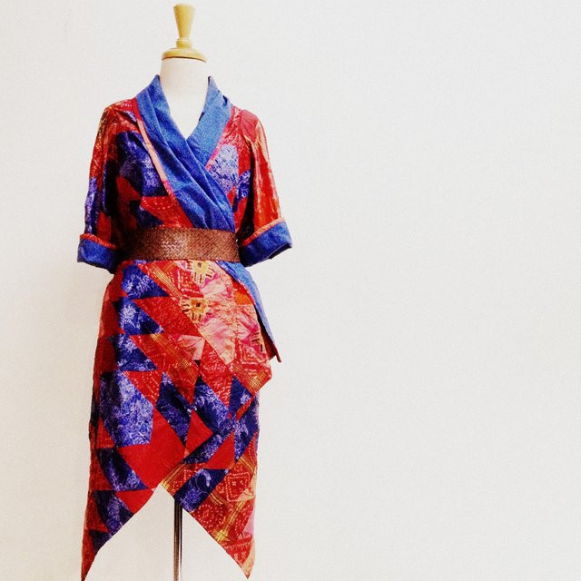 Dervish Robe made from vintage upcycled silk sari