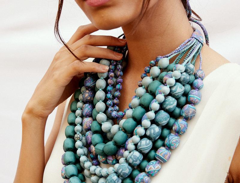 Iris Necklace   baby blues