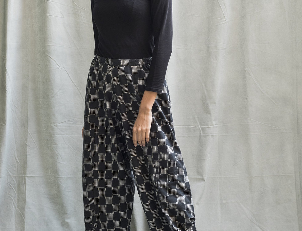 Kasuri Obi Pants | charcoal