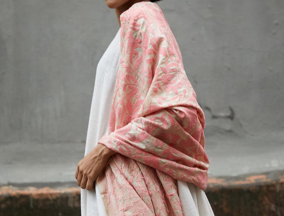 Nakshi Kantha Wrap | spring rose