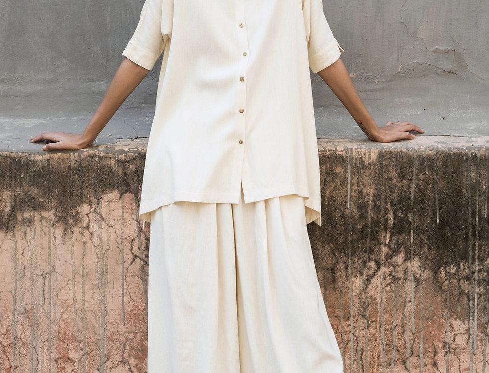 Eri Peace Silk Fjord Shirt | ivory