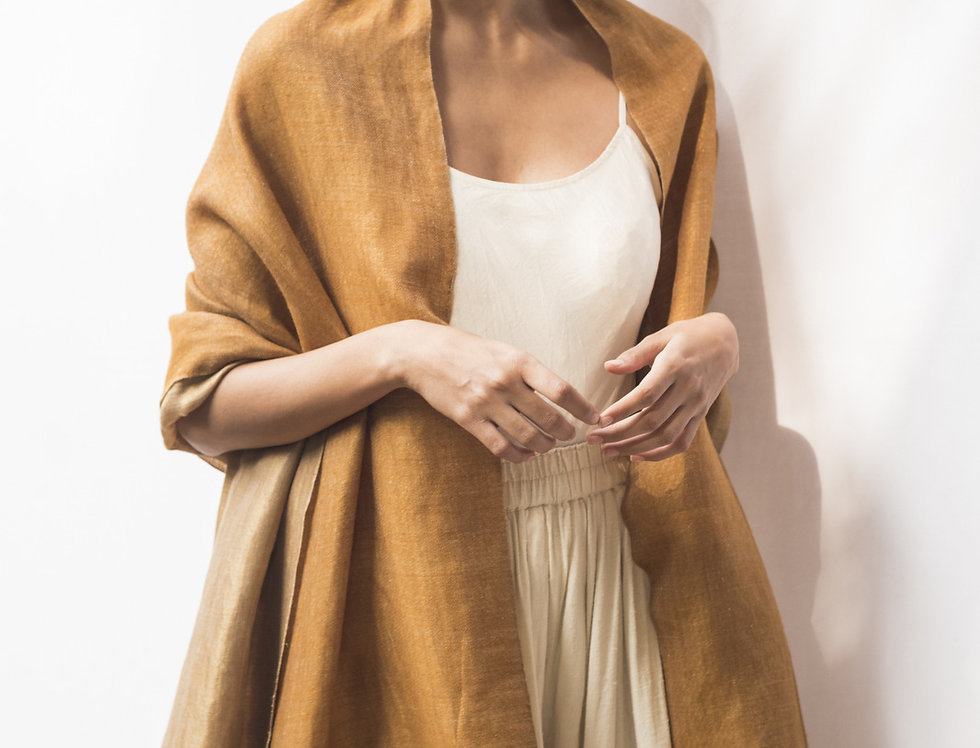 Pashmina Double Wrap | clay & gold