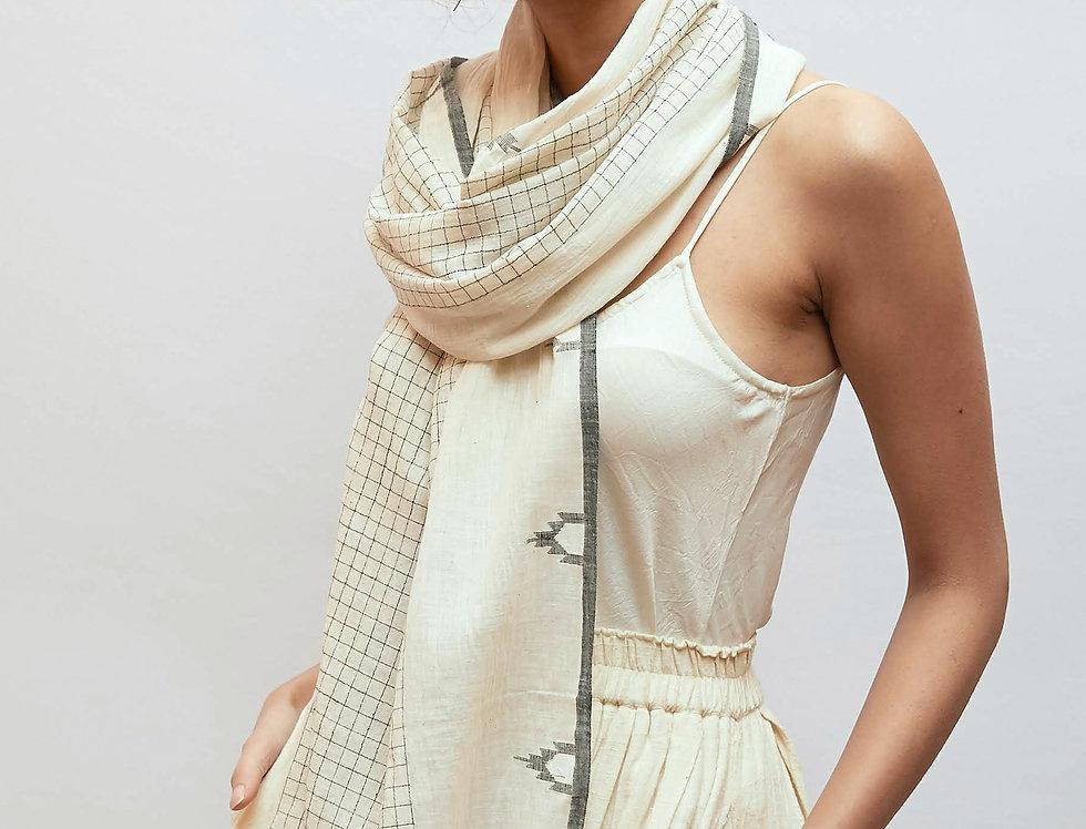 Jamdani Cotton Scarf | kora grid