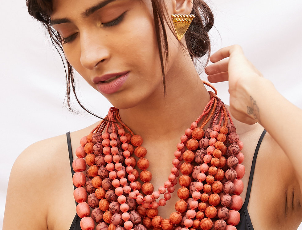 Iris Necklace | coral